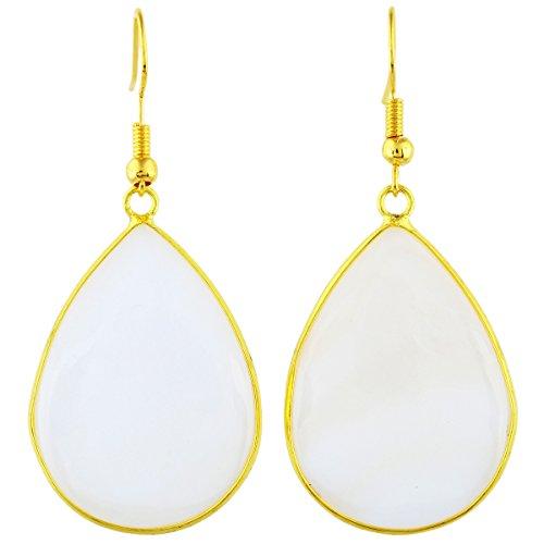 SUNYIK Women's Shell Teardrop Hook Dangle Earrings