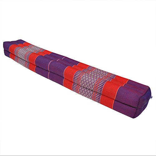 Thai cushion bolster , pillow, sofa, imported from Thaïland, relaxation, beach, pool, meditation garden Violet/Red (81511) by Wilai GmbH