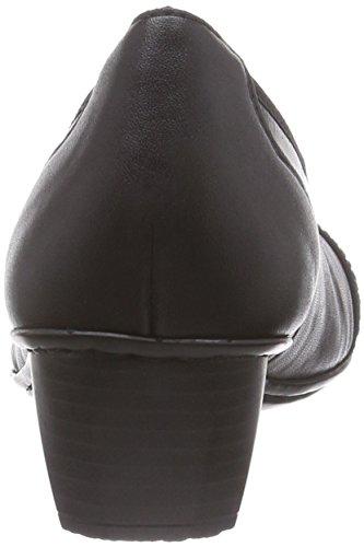 Rieker41772 - zapatos de tacón cerrados Mujer Negro (schwarz/black / 01)