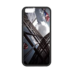 Kweet Reflective Buildings Case for IPhone 6 Unique Design by Rock, Case for Iphone 6 for Women for Guys Design with Black