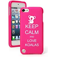 For Apple iPod Touch 5th / 6th Generation Hot Pink Rubber Hard Case Snap on 2 Piece BH739 Keep Calm and Love Koalas