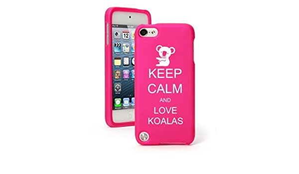 For Apple iPod Touch 4th 5th 6th Hard Case Cover Keep Calm Love Hippos