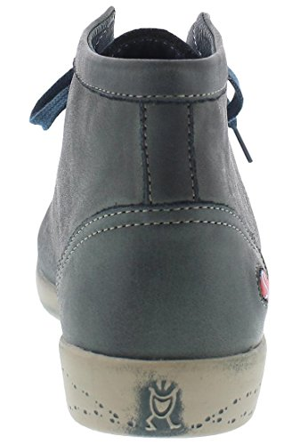 Mujer para Leather Altas Petrol Isleen Softinos Zapatillas Washed OYw1fCq