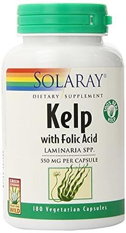 Solaray Kelp Capsules, 550 mg, 180 Count by Solaray - Solaray Kelp