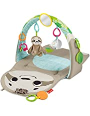 Fisher-Price Ready to Hang Sensory Sloth Gym, Infant Activity Mat with Toys for Tummy Time and Play