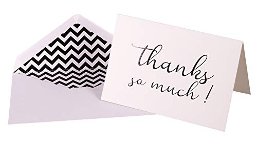 linijor design Thank You Card Note Stationery | 4 x 6inch, Blank 10's with Adhesive Envelope | Multipurpose | Premium Grade, 300gsm cardstock