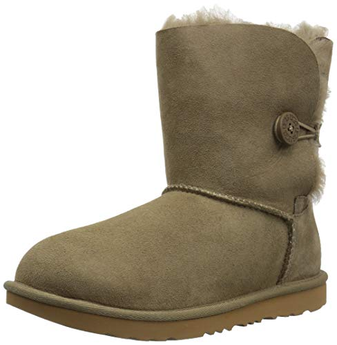 UGG Unisex-Kids K Bailey Button II Fashion Boot, Antilope, 2 M US Little Kid]()