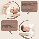Hidetex Baby Pillow - Preventing Flat Head Syndrome (Plagiocephaly) for Your Newborn Baby,Made of Memory Foam Head- Shaping Pillow and Neck Support