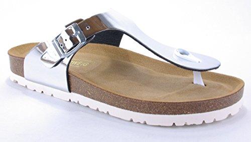Lindenzweig Ladies Sandal Toe Separator Argento Lucido Nuovo