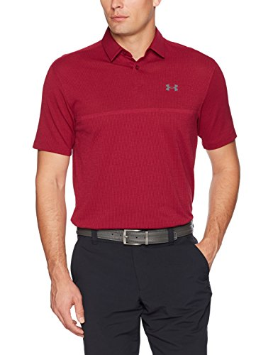 (Under Armour Men's Tour Jacquard Polo,Black Currant (923)/Rhino Gray, Small)