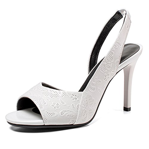 Grueso Sexy Tacón Zapatos De Cm Tacones Abierta Abierta Tacones Mujer Altos Blanco c2f2ca
