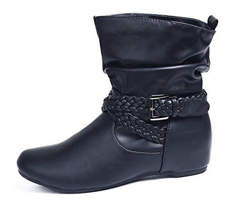 Boucle Hiver Enfiler Femme Shoes AgeeMi Bottes Imperm gwqBAIR