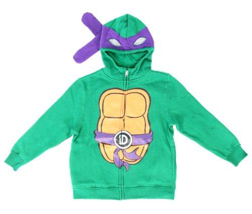 Teenage Mutant Ninja Turtles Donatello Boys Costume Zip Up Hoodie Sweatshirt (Toddler -
