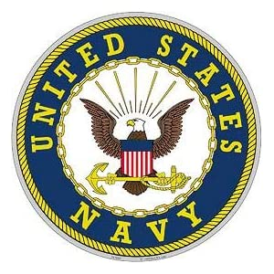 "United States Navy Aluminum Sign Round 12"" Inches Navy Duty Honor Country Bold Eagle 94"