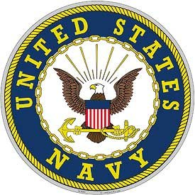 "United States Navy Aluminum Sign Round 12"" Inches Navy Duty"
