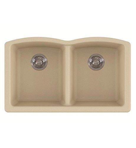 Franke ELG120MOC Ellipse Granite Undermount Double Bowl Kitchen Sink Mocha