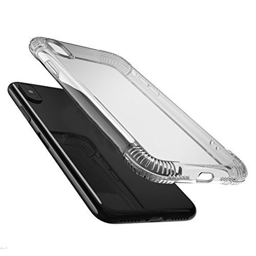 Zhhlaixing Protezione Dello Schermo High Hardness Tempered Glass Screen Protector Film + Phone Case Shell for iPhone X Color Transparent