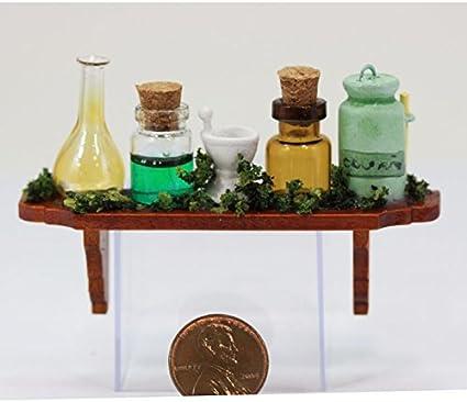 3 Dollhouse miniature  1//12  Halloween decoration Witches potion bottles L