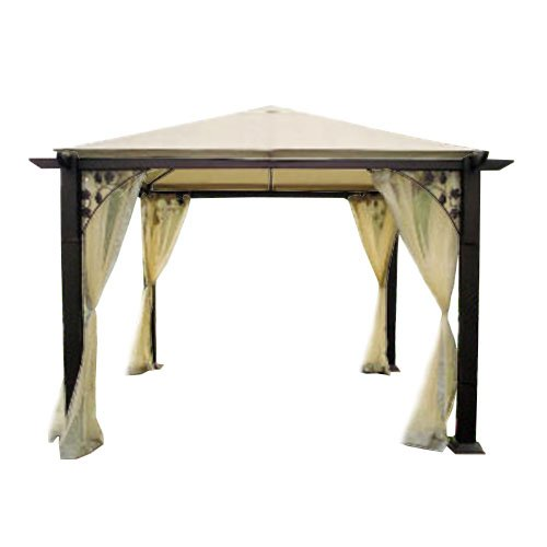 Garden Winds Replacement Canopy for The Trellis Gazebo, RipLock 350 (Trellis Gazebo Replacement Canopy)