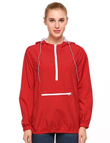 Giacca Donna Maniche Meaneor Basic Rosa Rosso Lunghe Parka nAOxXS7