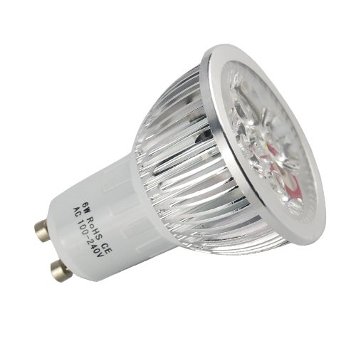 Excellent 6W Day White 100-240V Bright LED Lamps Spotlight GU10 for Home Office Hotel Cafe Shop - Mall Plaza Garden