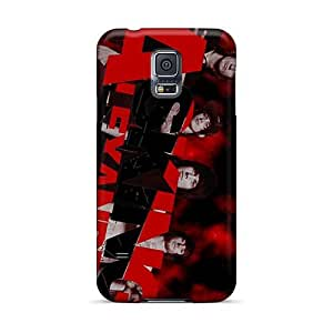 Protector Cell-phone Hard Cover For Samsung Galaxy S5 (WLO16155ZLIk) Customized Vivid Asking Alexandria Band Pattern