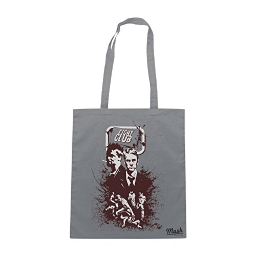 Borsa FIGHT CLUB JACK AND MR. DURDEN - Grigio - FILM by Mush Dress Your Style