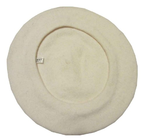 Classic Wool Beret By Parkhurst, Winter Ivory