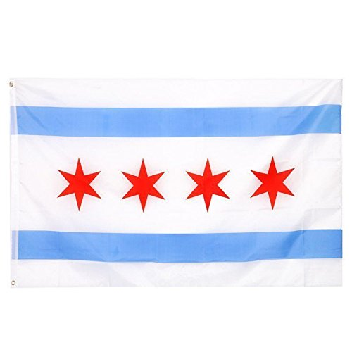 ALBATROS 2 ft x 3 ft City of Chicago SuperPoly Flag 2x3 Banner Brass Grommets Polyester for Home and Parades, Official Party, All Weather Indoors Outdoors -