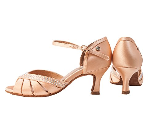 Aplus Ladies Women Ballroom Dance Shoes A6801 With 2.5 Heel Nude EzmZgdSb