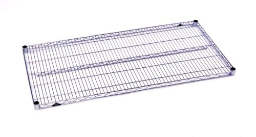 Chrome Metro Plated Super Erecta (Metro 1836NC Super Erecta Nickel Chrome Plated Steel Wire Shelf, 800 lb. Capacity, 1