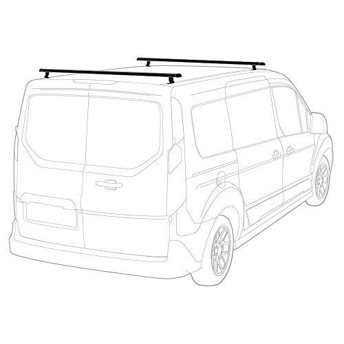 J1000 Aluminum Ladder Roof Rack 2 bar system for a 2014-Newer Transit (Profile Rack System)