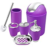 Purple bathroom accessories bath home for Purple bathroom bin