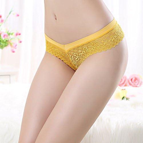 AOYOMO Women Lace Hollow Underwear G-String Low Waist Panty Thongs