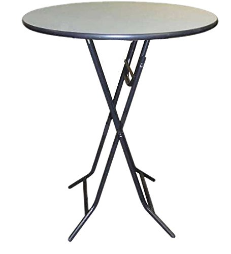 Midwest Folding Products XFR3642NLW X Hexlite Fold Tables, Grey Top/Black Metal and Molding, 36