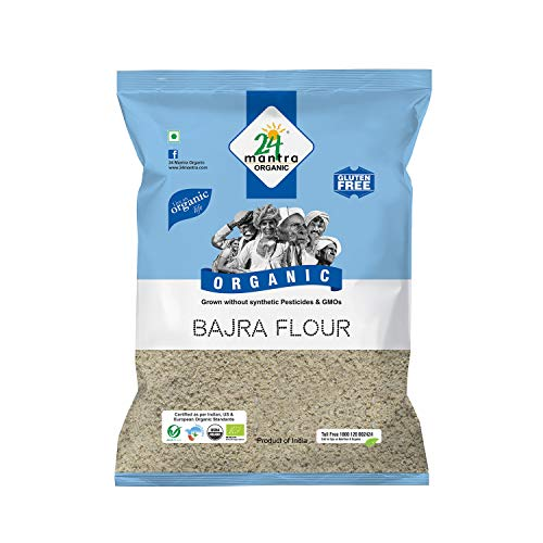 24 Mantra Organic Bajra (Pearl Millet) Flour, 500g