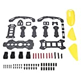 DIY Robocat Carbon Fiber Frame Shock-absorbing with Hood Cover 270mm 4-axle FPV-Racing Mini Quadcopter Frame Removable Yellow