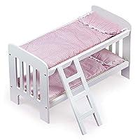 Badger Basket Doll Literas con escalera (para muñecas American Girl), rosa /lunares blancos
