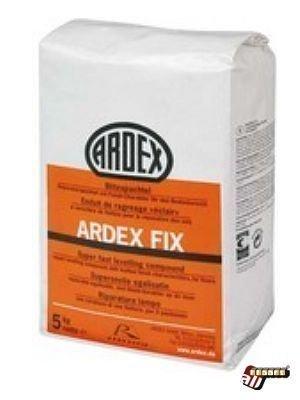 Ardex FIX Blitzspachtel Reparaturspachtel mit Finish-Charakter für den Bodenbereich auf Zement 5kg/Eimer Verbrauch 0,88kg/m² bei 1mm Stärke