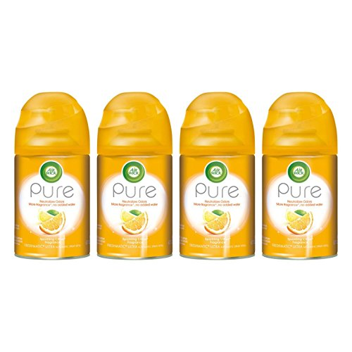 Air Wick - Pure Freshmatic Refill Automatic Spray, Sparkling Citrus, 6.17oz, Air Freshener (Pack of 4) ()