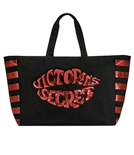 cb020fced90aa VICTORIA SECRET - - LG TOTE WEEKENDER BAG - SEQUIN BLING RED HOT LIPS -  DUFFLE WEEKENDER. TOTE LIMITED - RARE -