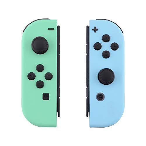 🥇 eXtremeRate Carcasa para Joy-Con Nintendo Switch Funda de Grip de reemplazo Tacto Suave Shell con Botón completo Case para Joycons Nintendo Switch-No incluye Carcasa de Consola
