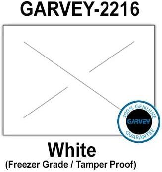 Full case Tamper Proof Security cuts 20 Ink Rollers 180,000 Genuine GARVEY 2216 White Freezer Grade Labels