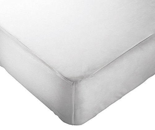 Digital Decor White Premium Soft Water Resistant Fitted Vinyl Mattress Protector (Twin) (Target Boys Camp Bedding)