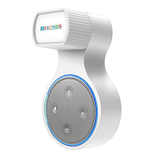 ❤ Outlet Wall Mount Holder Bracket for Echo Dot 2nd Generation - Let You Use Dot in Kitchen, Bathroom, Living Room, Bedroom - No Messy Wires or Screws (White)