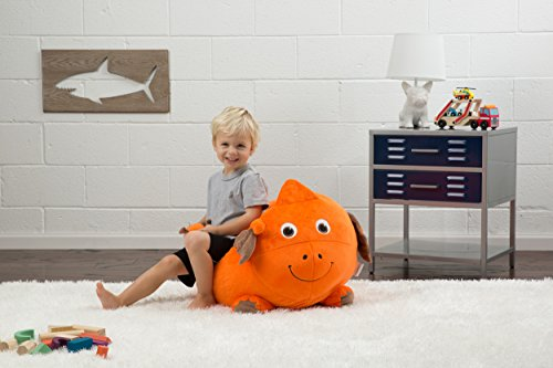 Big Joe Bagosaur Tommy The Pterodactyl with Lil Buddy Bean Bag, Orange, Small, (Model: )