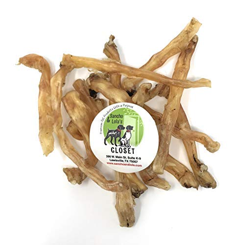 Elk Rawhide - Sancho & Lola's 10oz Beef Tendons for Dogs - Made in USA/Nebraska (8-12 Count) Plain Gambrel/Small Batch Single-Ingredient Grain-Free Chews - Smoked Beef and Smoked Turkey Tendons Also Available