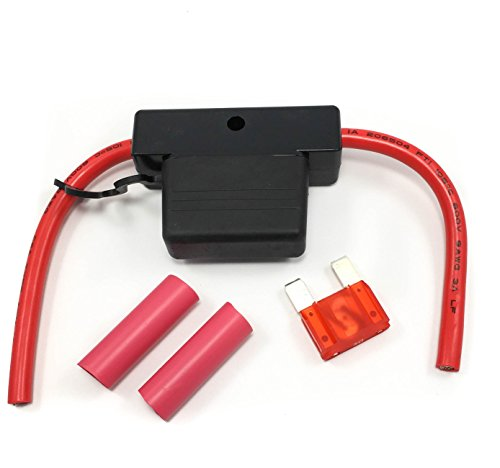 Maxi Fuse Holder Red Leads 5