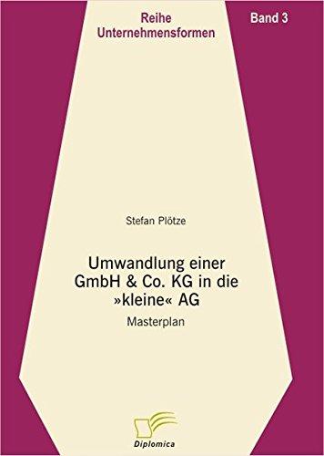 Umwandlung einer GmbH & Co. KG in die kleine AG: Masterplan (Unternehmensformen)