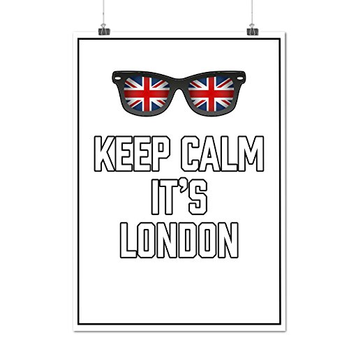 Keep Calm UK Flag London England UK Matte/Glossy Poster A2 (17x24 inches) | Wellcoda (Party City Athens Georgia)